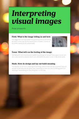 Interpreting visual images
