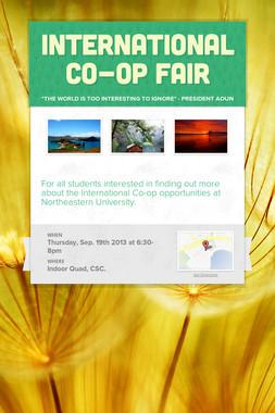 International Co-op Fair