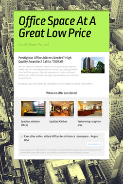 Office Space At A Great Low Price