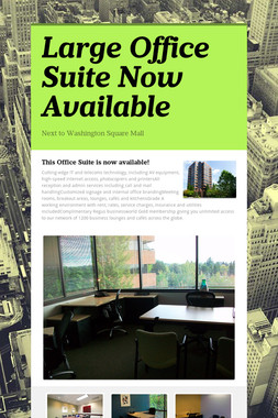 Large Office Suite Now Available