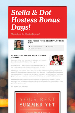 Stella & Dot Hostess Bonus Days!