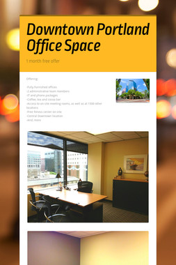 Downtown Portland Office Space