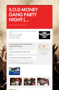 S.O.D MONEY GANG PARTY NIGHT (…