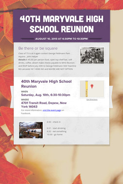 40th Maryvale High School Reunion