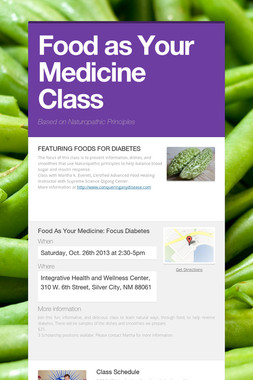 Food as Your Medicine Class