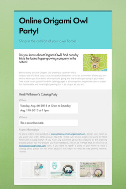 Online Origami Owl Party!