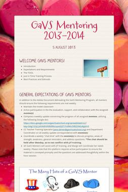 GaVS Mentoring 2013-2014