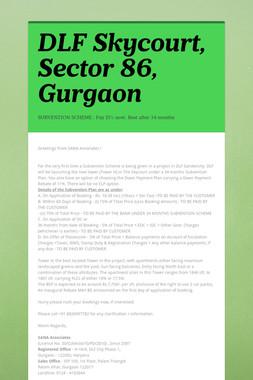 DLF Skycourt, Sector 86, Gurgaon