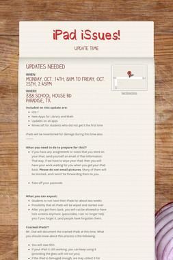 iPad iSsues!