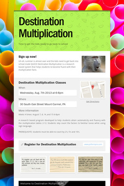 Destination Multiplication