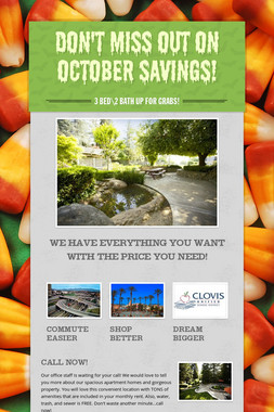 Don't Miss Out On October Savings!