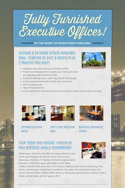 Fully Furnished Executive Offices!