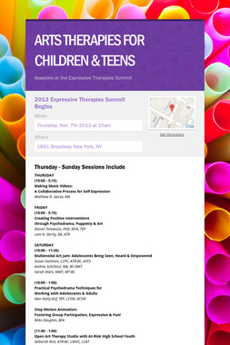 ARTS THERAPIES FOR CHILDREN & TEENS