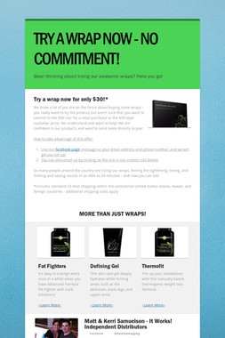 TRY A WRAP NOW - NO COMMITMENT!