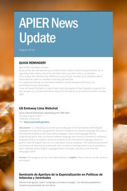 APIER News Update