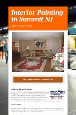 Interior Painting in Summit NJ