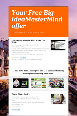 Your Free Big IdeaMasterMind offer