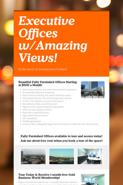 Executive Offices w/Amazing Views!