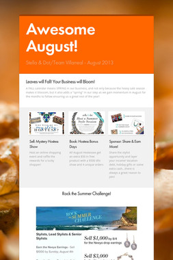 Awesome August!