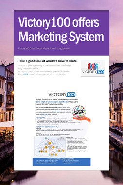 Victory100 offers Marketing System