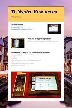 TI-Nspire Resources