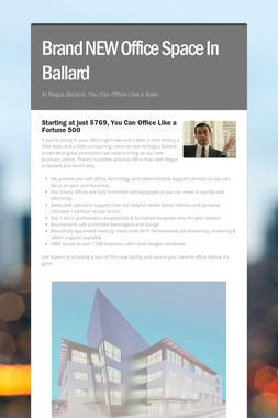Brand NEW Office Space In Ballard