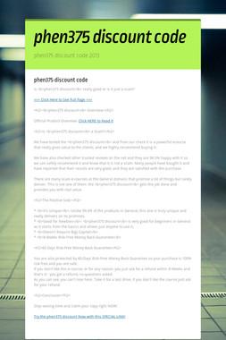 phen375 discount code