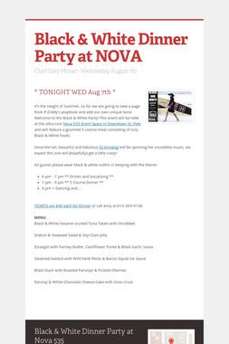 Black & White Dinner Party at NOVA