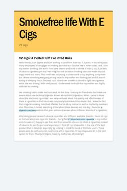 Smokefree life With E Cigs