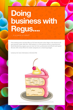 Doing business with Regus....