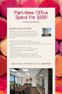 Part-time Office Space for $199!