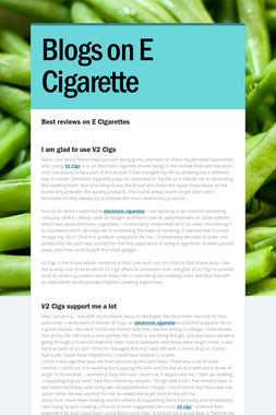 Blogs on E Cigarette