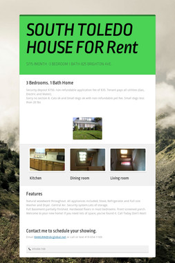 SOUTH TOLEDO HOUSE FOR Rent