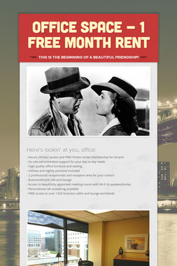 Office space - 1 FREE month rent