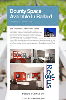 Bounty Space Available In Ballard