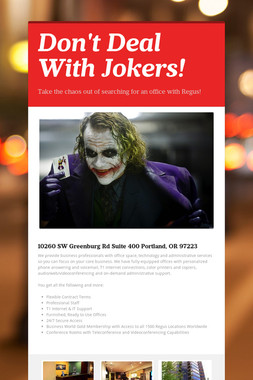 Don't Deal With Jokers!
