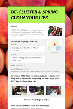 DE-CLUTTER & SPRING CLEAN YOUR LIFE