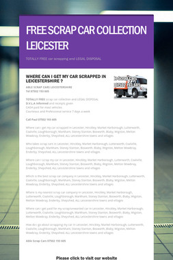 FREE SCRAP CAR COLLECTION LEICESTER