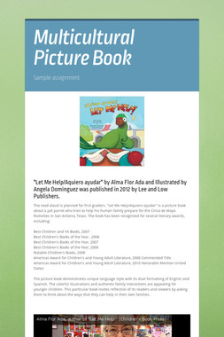 Multicultural Picture Book