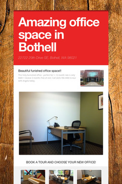 Amazing office space in Bothell