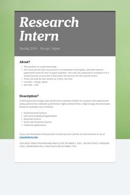Research Intern