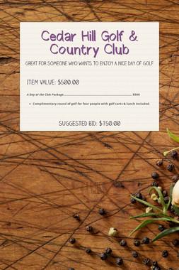 Cedar Hill Golf & Country Club