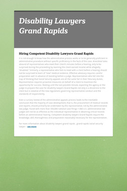 Disability Lawyers Grand Rapids