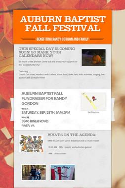 Auburn Baptist Fall Festival