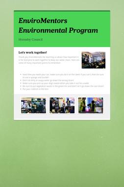 EnviroMentors Environmental Program