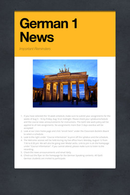 German 1 News