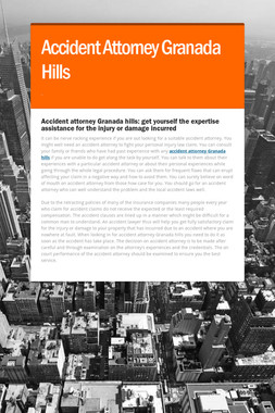 Accident Attorney Granada Hills