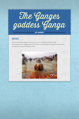 The Ganges goddess Ganga