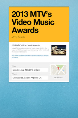 2013 MTV's Video Music Awards