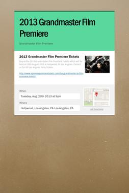 2013 Grandmaster Film Premiere